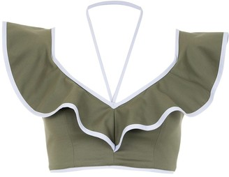 Framed Double Layer cropped top