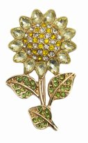 Epinki Women Stainless Steel Sunflower Brooch Cubic Zirconia Bouquet Brooches and Pins