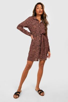 boohoo Shirt Dress Animal Print