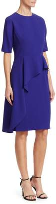 Teri Jon By Rickie Freeman Asymmetric Ruffle Sheath Dress