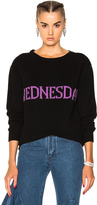 Alberta Ferretti Wednesday Crewneck Sweater in Black.
