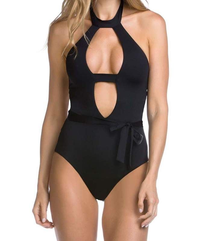 Becca by Rebecca Virtue Women's Socialite One Piece Plunge Swimsuit S