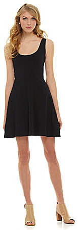 Angie Solid Knit Flared Skater Dress