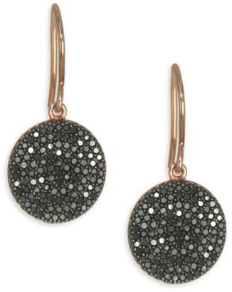 Astley Clarke The Icon Black Diamond & 14K Yellow Gold Post Earrings