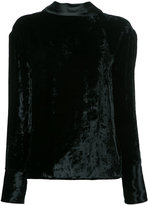 Maison Margiela open back velvet top - women - Viscose - 38