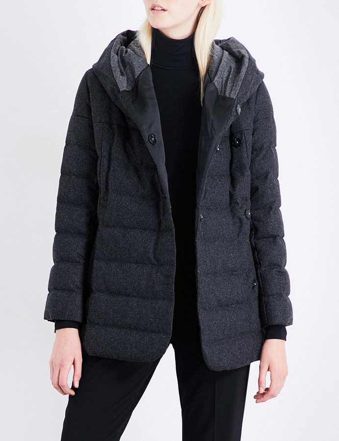 Armani Collezioni Quilted wool and cashmere-blend coat