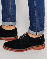 Base London Stanford Perforated Suede Shoes