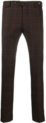 Tagliatore Check Print Suit Trousers