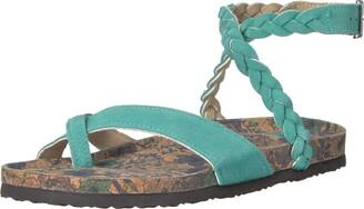 Muk Luks Women's Estelle Terra Turf-Mint Sandal 8 M US