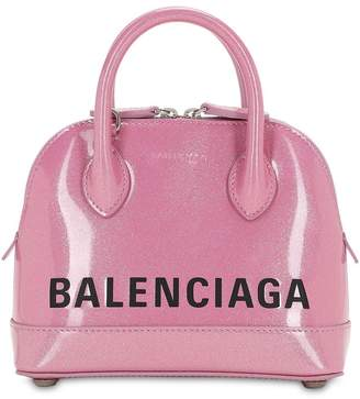 Balenciaga Xxs Ville Glittered Top Handle Bag
