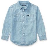 Ralph Lauren Long-Sleeve Chambray Work Shirt, Size 2-4