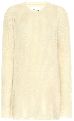 Jil Sander Distressed mohair and silk sweater