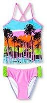 Big Chill Girls' Palm Tree Tankini Swimsuit