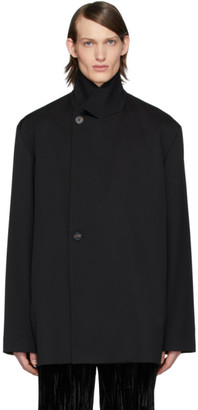 Balenciaga Black Twill Stretch Tailoring Jacket