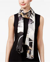 Vince Camuto Shadow Floral Silk Scarf