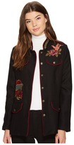 XOXO Long Embroidered Military Jacket