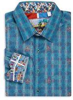 Robert Graham Big & Tall Printed Cotton Shirt