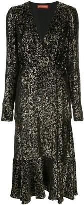 Altuzarra Martha Midi Foiled Dress
