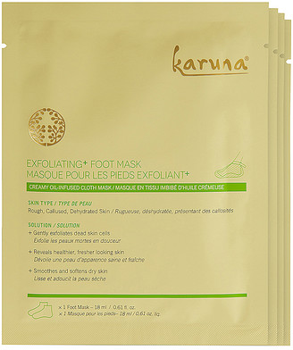 Karuna Exfoliating+ Foot Mask 4 Pack.