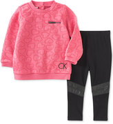 Calvin Klein 2-Pc. Quilted Heart Tunic & Leggings Set, Baby Girls (0-24 months)