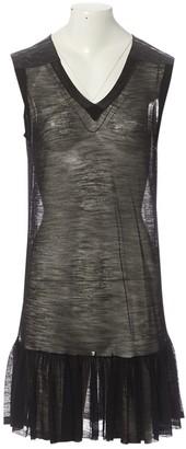 Sacai Black Wool Dresses
