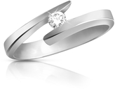 Forzieri 0.065 ct Diamond 18K Gold Solitaire Ring