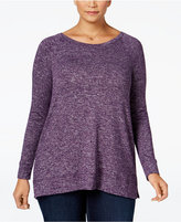 Style&Co. Style & Co. Plus Size Mélange Top, Only at Macy's