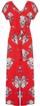 Yumi Blossom Pattern Wide Leg Jumpsuit