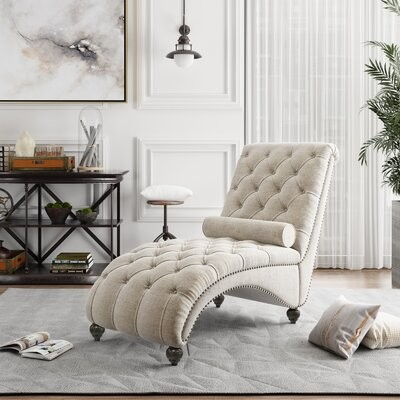 Thumbnail for your product : Alcott Hill Ariad Tufted Armless Chaise Lounge