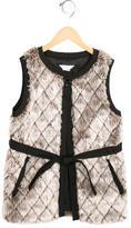 Little Marc Jacobs Girls' Quilted Faux Fur Vest