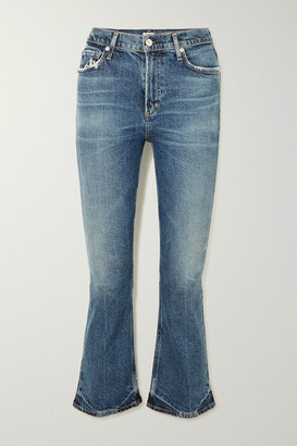 Citizens of Humanity Demy Cropped High-rise Flared Jeans - Mid denim