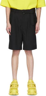 Juun.J Black Belt Shorts