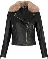 Whistles Toscana Collar Leather Jacket
