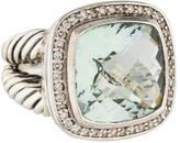 David Yurman Prasiolite and Diamond Albion Ring