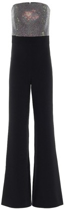 Safiyaa Embellished stretch-crApe jumpsuit