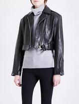 Frame Moto cropped leather biker jacket