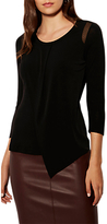 Karen Millen Soft Tucked Draped Jersey Top, Black