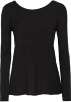 Enza Costa Split-back stretch-jersey top