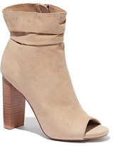 New York & Co. Faux-Suede Open-Toe Bootie