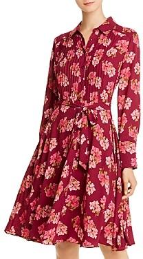 Nanette Lepore Nanette nanette Pintucked Floral-Print Shirt Dress