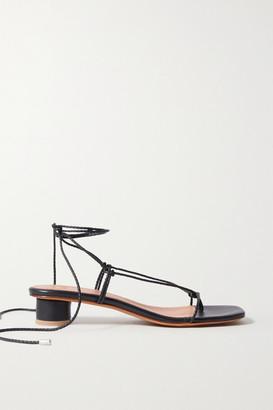 LOQ Dora Braided Leather Sandals - Black