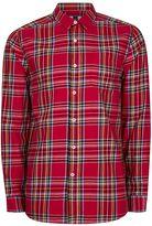 Topman Red Tartan Casual Shirt