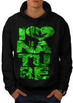 Nature Lover Heart Chill High Men NEW L Hoodie | Wellcoda