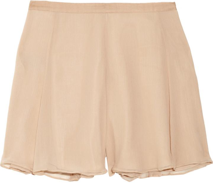 Elizabeth and James Katia flared silk-chiffon shorts