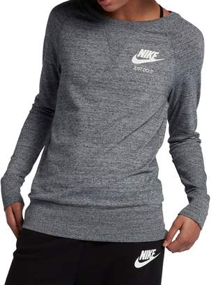 Nike Long-Sleeve Cotton Blend Sweatshirt