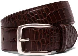 Hackett Mock-crocodile Skin Leather Belt
