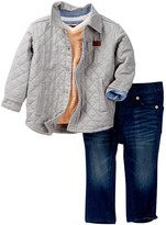 7 For All Mankind Trucker Jacket, Tee, & Pant 3-Piece Set (Baby Boys)