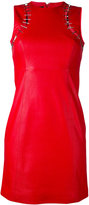 Versus cut-out detail fitted dress - women - Lamb Skin/Polyester - 38