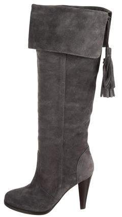 c2a801d31f04 Grey Suede High Heel Boots - ShopStyle