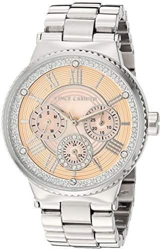 Vince Camuto Women's VC/5313PMSV Swarovski Crystal Accented Silver-Tone Bracelet Watch